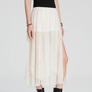 FREE PEOPLE ~ X-Small Dotted Mesh Sugar Plum Skirt